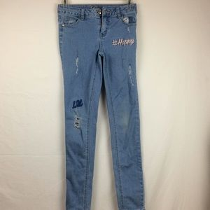 justice jeans size 12 slim simply low leggings